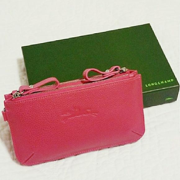 Longchamp Handbags - Longchamp Le Foulonne Coin Purse Wallet Pink 4725d710b42b8